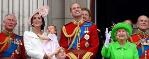 royal family at trooping the colour