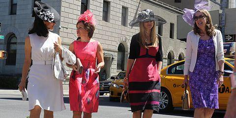 Fashion, Pink, Pedestrian, Street fashion, Dress, Fun, Event, Street, Infrastructure, Tourism,