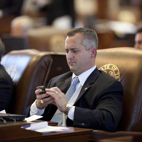 USA - Politics - Texas State Representative on Blackberry