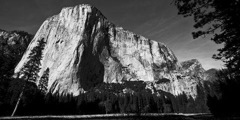 Black, Black-and-white, White, Sky, Monochrome photography, Nature, Rock, Natural landscape, Mountain, Tree,
