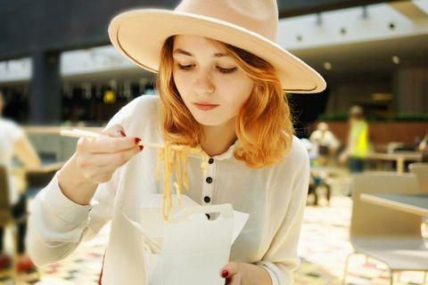 White, Clothing, Hat, Sun hat, Fashion accessory, Lip, Headgear, Street fashion, Fedora, Smile,
