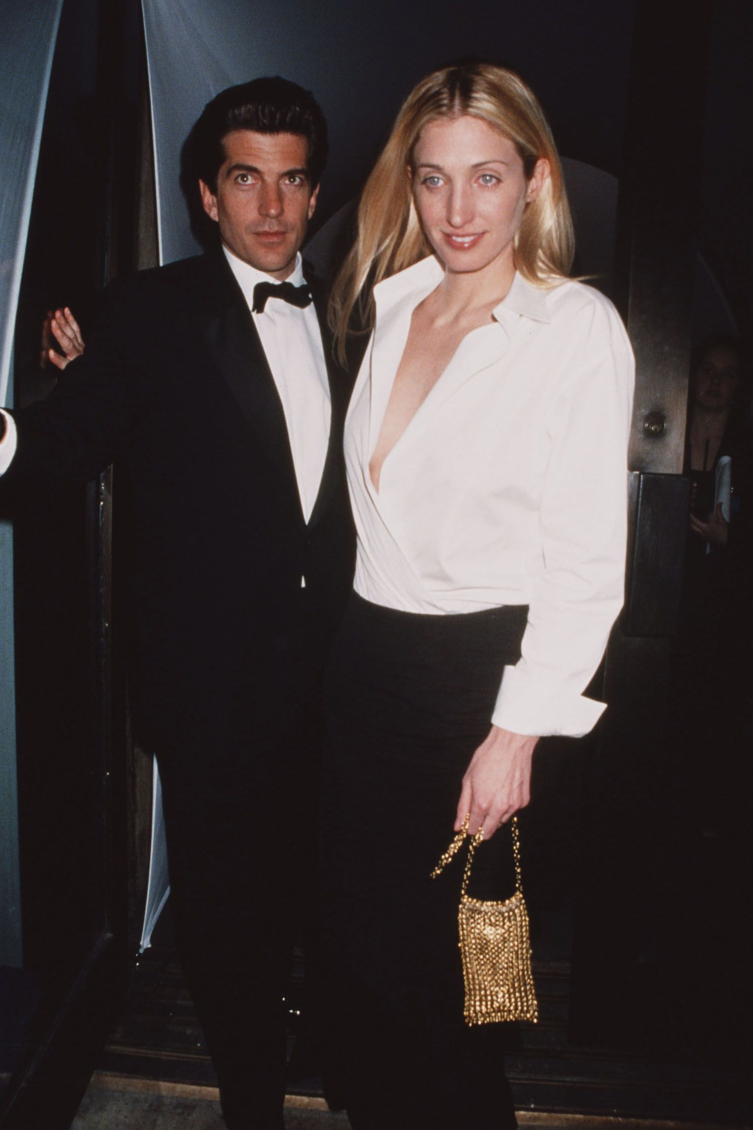 John F. Kennedy Jr. with his wife, Carolyn Bessette-Kennedy, in 1995.
