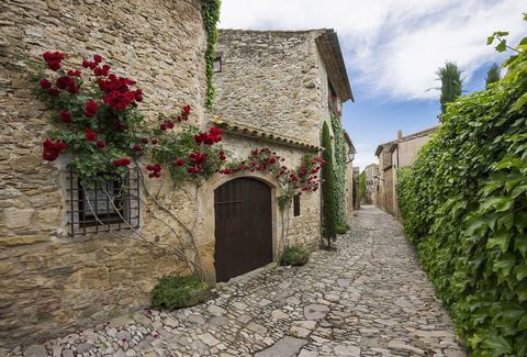 Old town of Pals near Palafrugell, Costa Brava, Spain