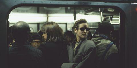 Transport, Passenger, Mode of transport, Glasses, Snapshot, Public transport, Eyewear, Photography, Vehicle, Metro,