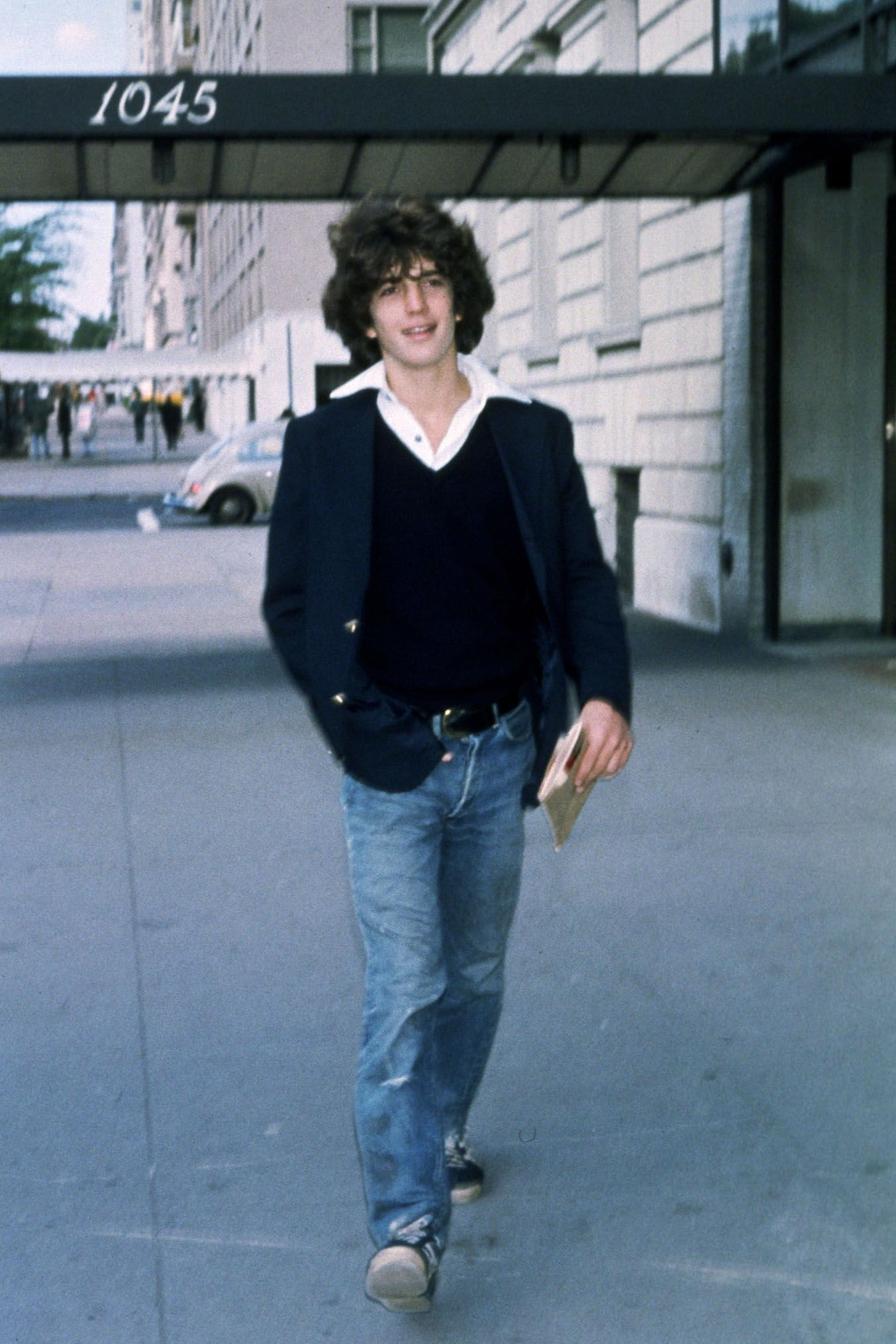 John F. Kennedy Jr. in the 1970s in New York City.