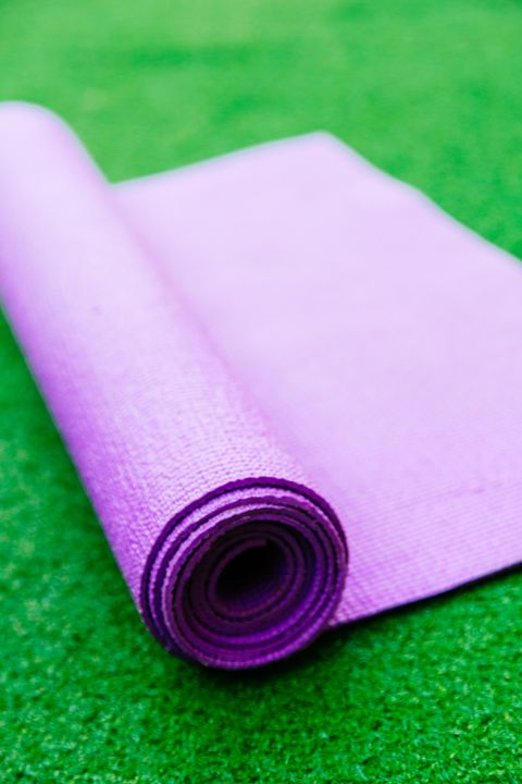 Green, Purple, Pink, Yoga mat, Violet, Magenta, Mat, Grass, Material property, Sports equipment,