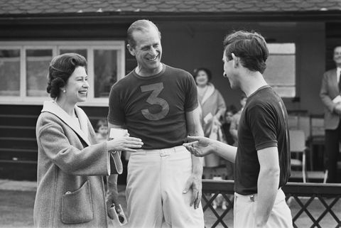 queen elizabeth ii awarding prince philip, duke of edinburgh and charles, prince of wales with trophies after a polo match, 30th april 1967 photo by michael stroudexpresshulton archivegetty images