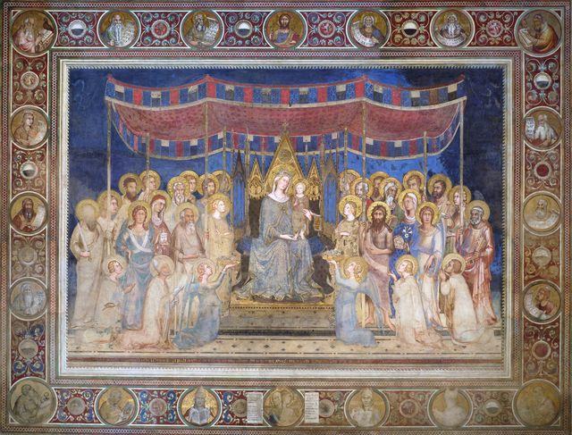 simone martini italian, 1285–1344, maestà, fresco, 1315 21, palazzo pubblico, siena, italy photo by vcg wilsoncorbis via getty images