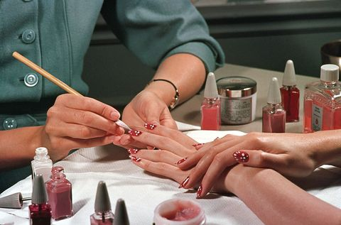 Nail, Hand, Beauty, Finger, Manicure, Nail care, Cosmetics, Material property, Flesh, Service,