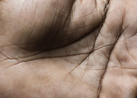 Close up of a human hand