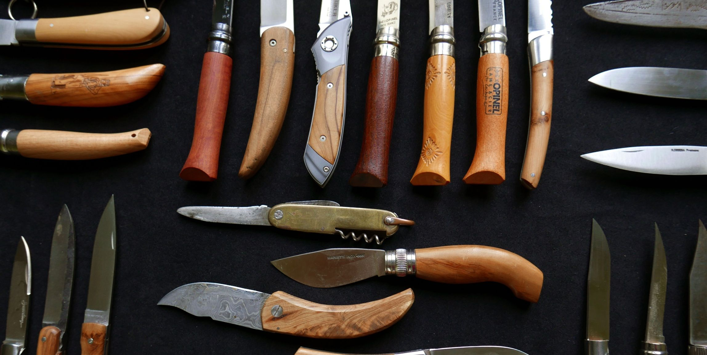 assortment of knives