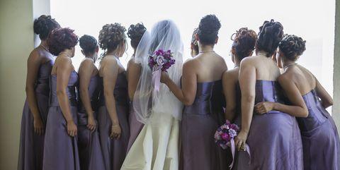 bridesmaids, bride, wedding
