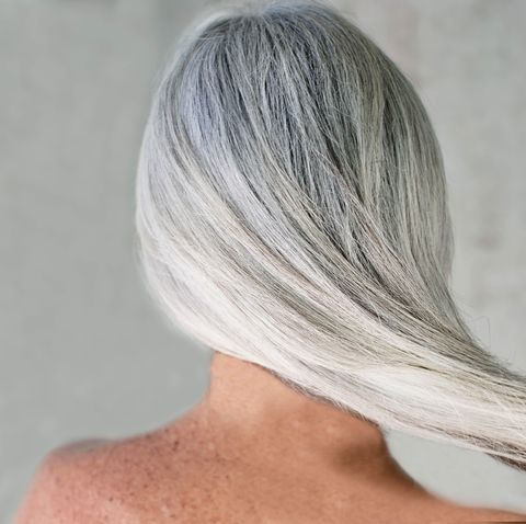 Hair, Hairstyle, Face, Blond, Chin, Hair coloring, Skin, Beauty, Shoulder, Silver,