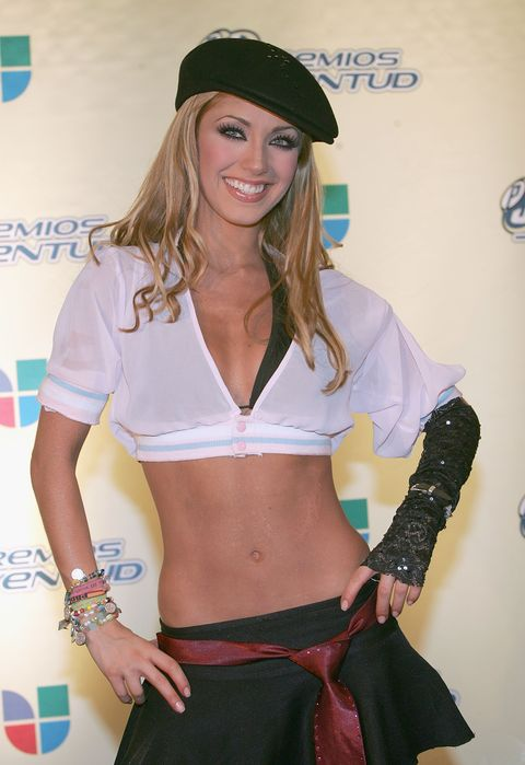 miami september 22 anahi of the band rebelde poses in the press room at the 2nd annual premios juventud awards at the miami university convening center on september 22, 2005 in miami, florida photo by alexander tamargogetty images