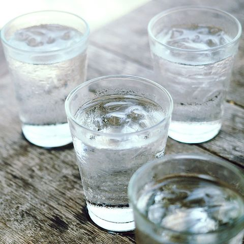 Full water glasses