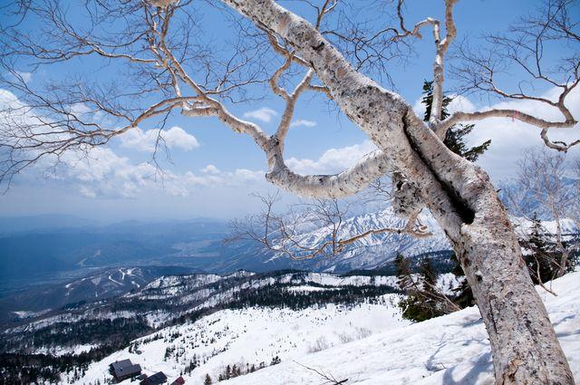 Japanse besneeuwde bergen