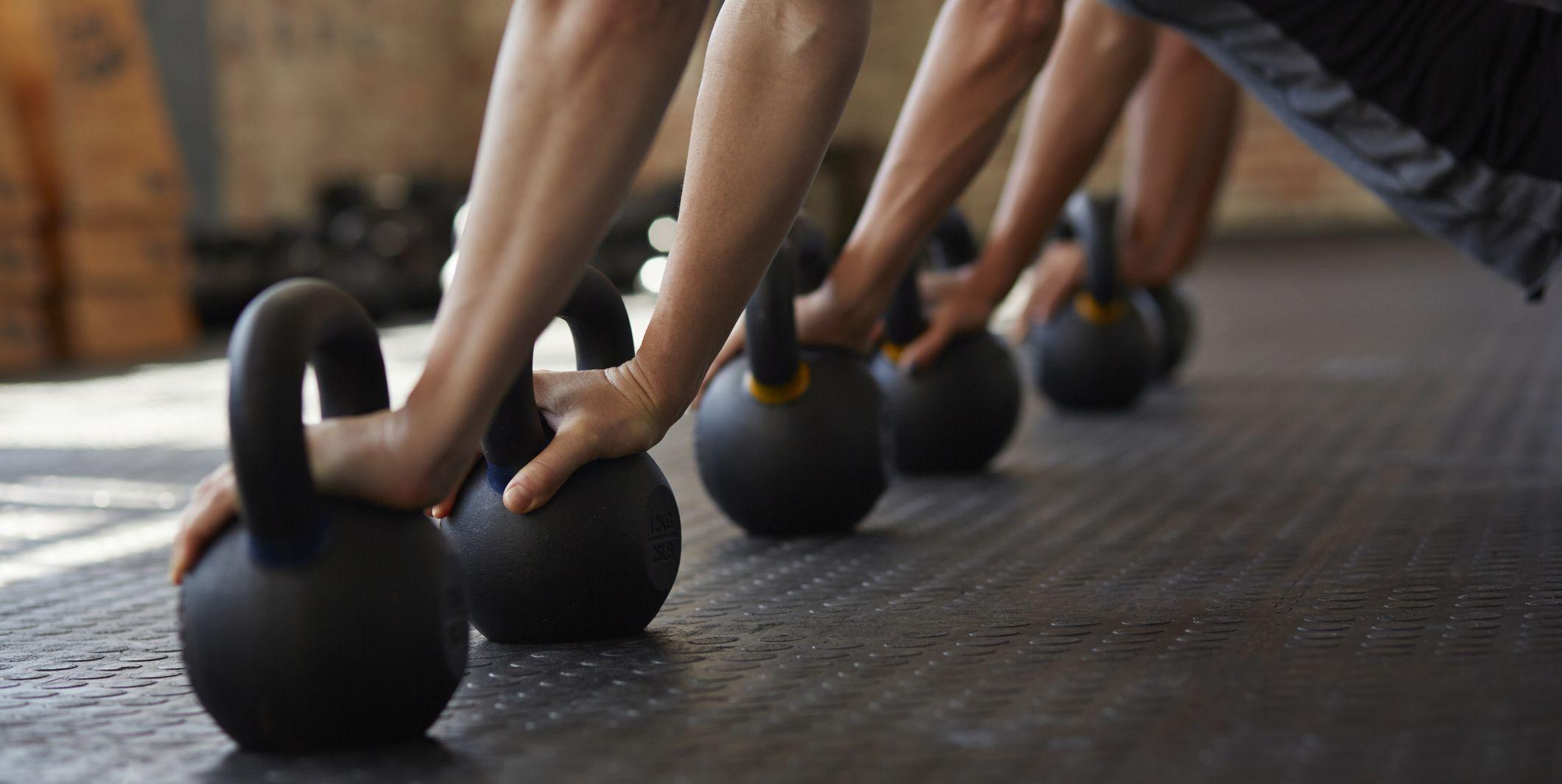 kettlebell push up group workout
