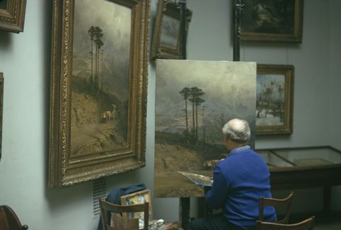 Painting, Visual arts, Room, Art, Tourist attraction, Artist, Museum, Collection,
