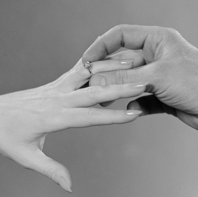 Hand, Finger, Wedding ring, Wrist, Gesture, Arm, Ring, Wedding ceremony supply, Interaction, Holding hands,