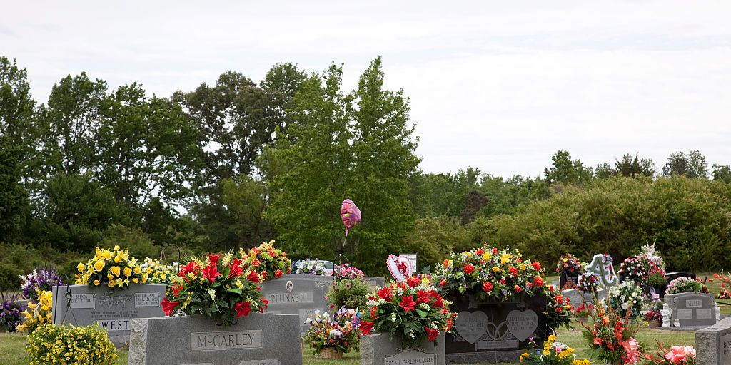 Cemetery on Mother's Day