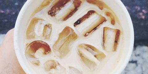 Food, Ingredient, Drink, Coffee, Coffee milk, White coffee, Cup, Drinkware, Recipe, Single-origin coffee,