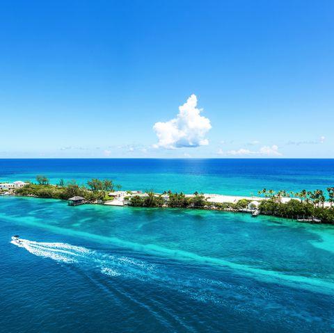 Coral reef at crystal waters at Caribbean Nassau