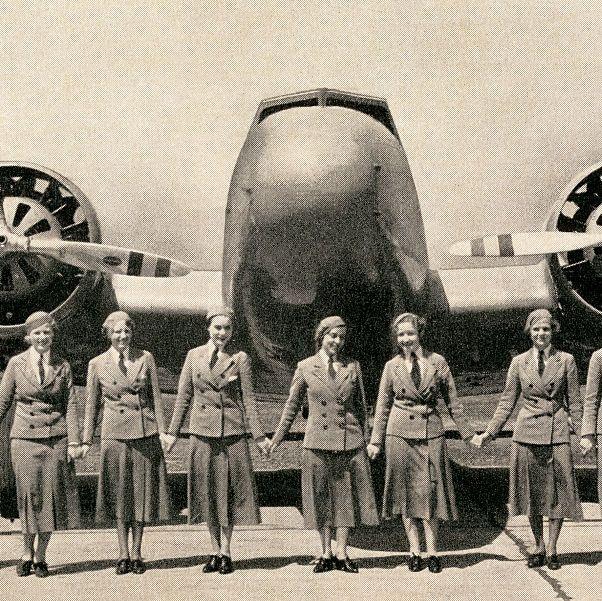 flight attendants from the 1940s