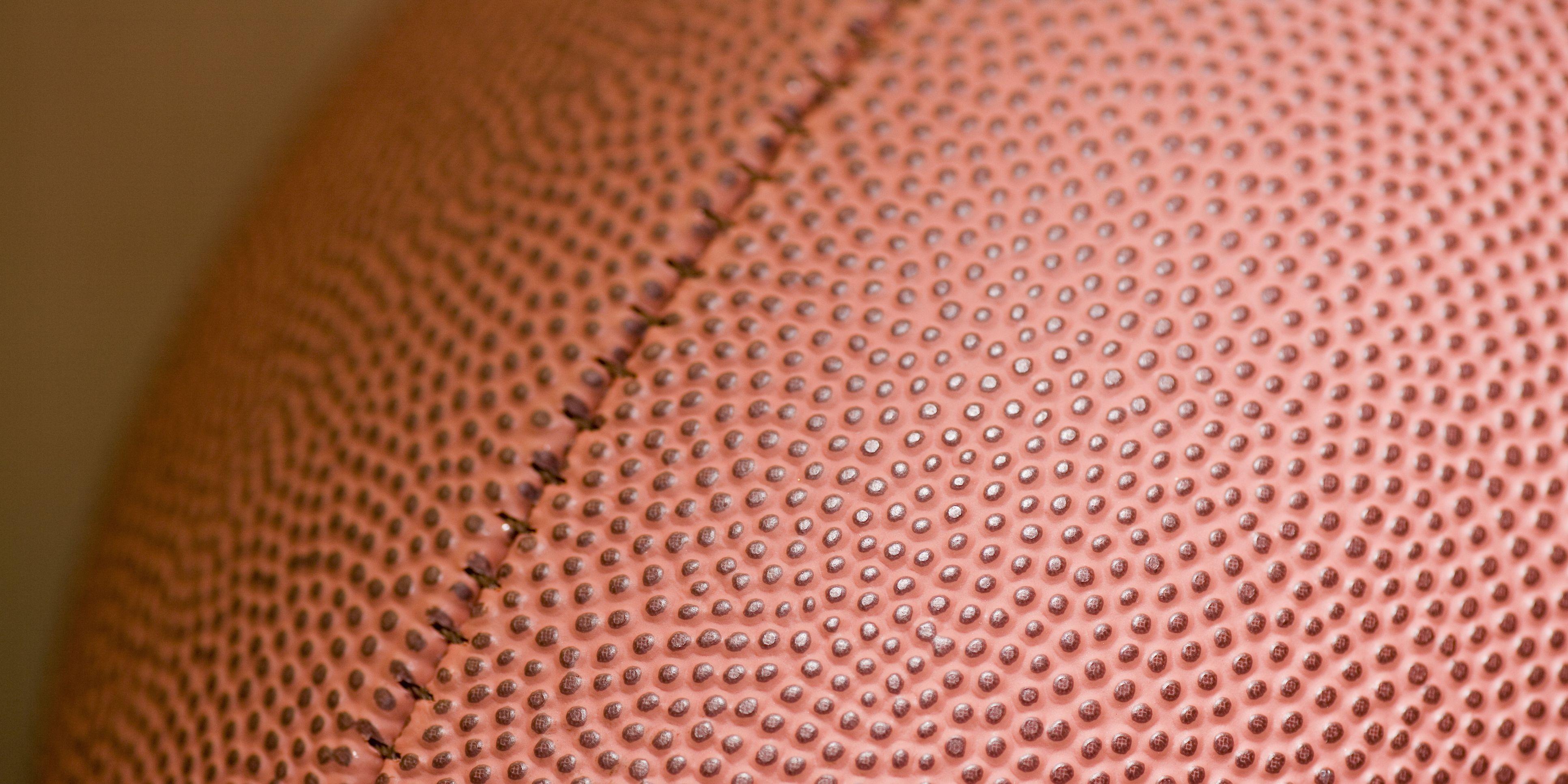An football, close up