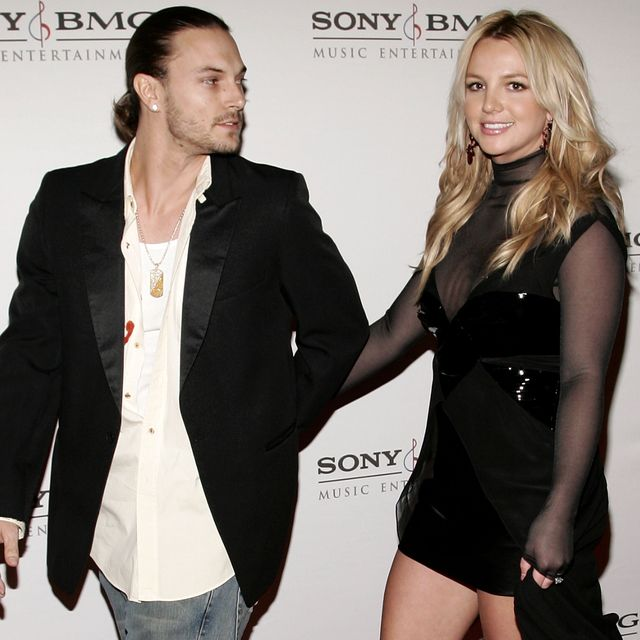 hollywood   february 08  singer britney spears r and husband kevin federline arrive at the sony bmg grammy party held at the hollywood roosevelt hotel on february 8, 2006 in hollywood, california  photo by vince buccigetty images