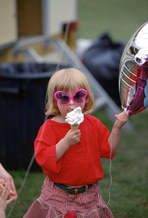 Pink, Child, Grass, Costume, Eyewear, Sunglasses, Glasses, Toddler,