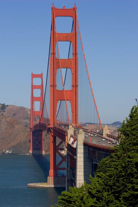 Bridge, Cable-stayed bridge, Suspension bridge, Landmark, Extradosed bridge, Fixed link, Sky, Water, Architecture, Nonbuilding structure,