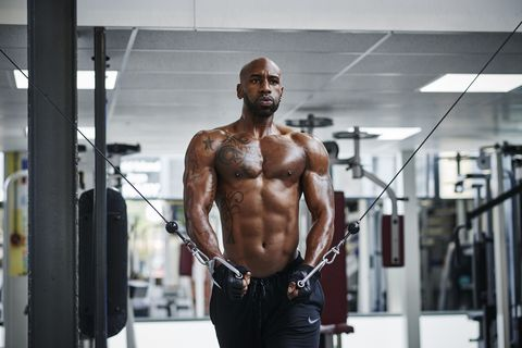Bodybuilder, Bodybuilding, Barechested, Muscle, Physical fitness, Shoulder, Fitness professional, Abdomen, Chest, Arm,