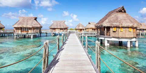 Sky, Resort, Turquoise, Vacation, Tropics, Swimming pool, Sea, Pier, Ocean, Water,