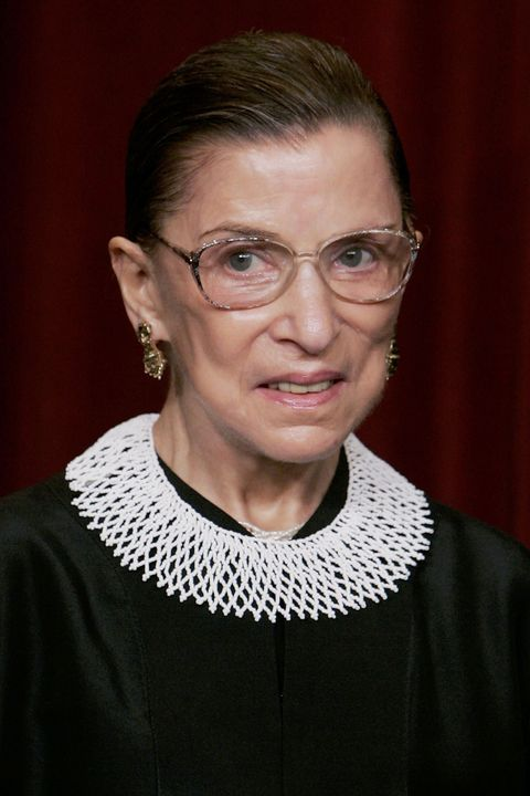 washington   march 03 us supreme court justice ruth bader ginsburg smiles during a photo session with photographers at the us supreme court march 3, 2006 in washington dc  photo by mark wilsongetty images