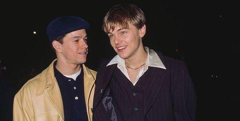 Mark Wahlberg y Leonardo DiCaprio en la premiere de Diario de un Rebelde