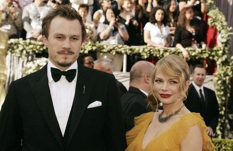 Actors Heath Ledger (L) and Michelle Wil