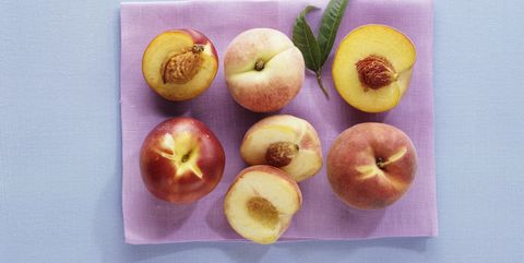 Peaches and nectarine, whole and halved