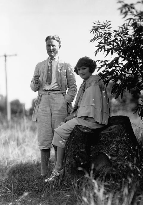 writer f scott fitzgerald and his wife zelda, at their home in dellwood, minnesota, in 1921 zelda was eight months pregnant with their daughter frances scottie at the time photo by © minnesota historical societycorbiscorbis via getty images