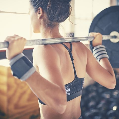 Barbell, Weightlifting, Strength training, Physical fitness, Shoulder, Weight training, Powerlifting, Muscle, Arm, Exercise equipment,