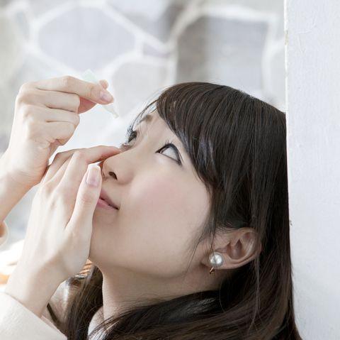 using eye drops