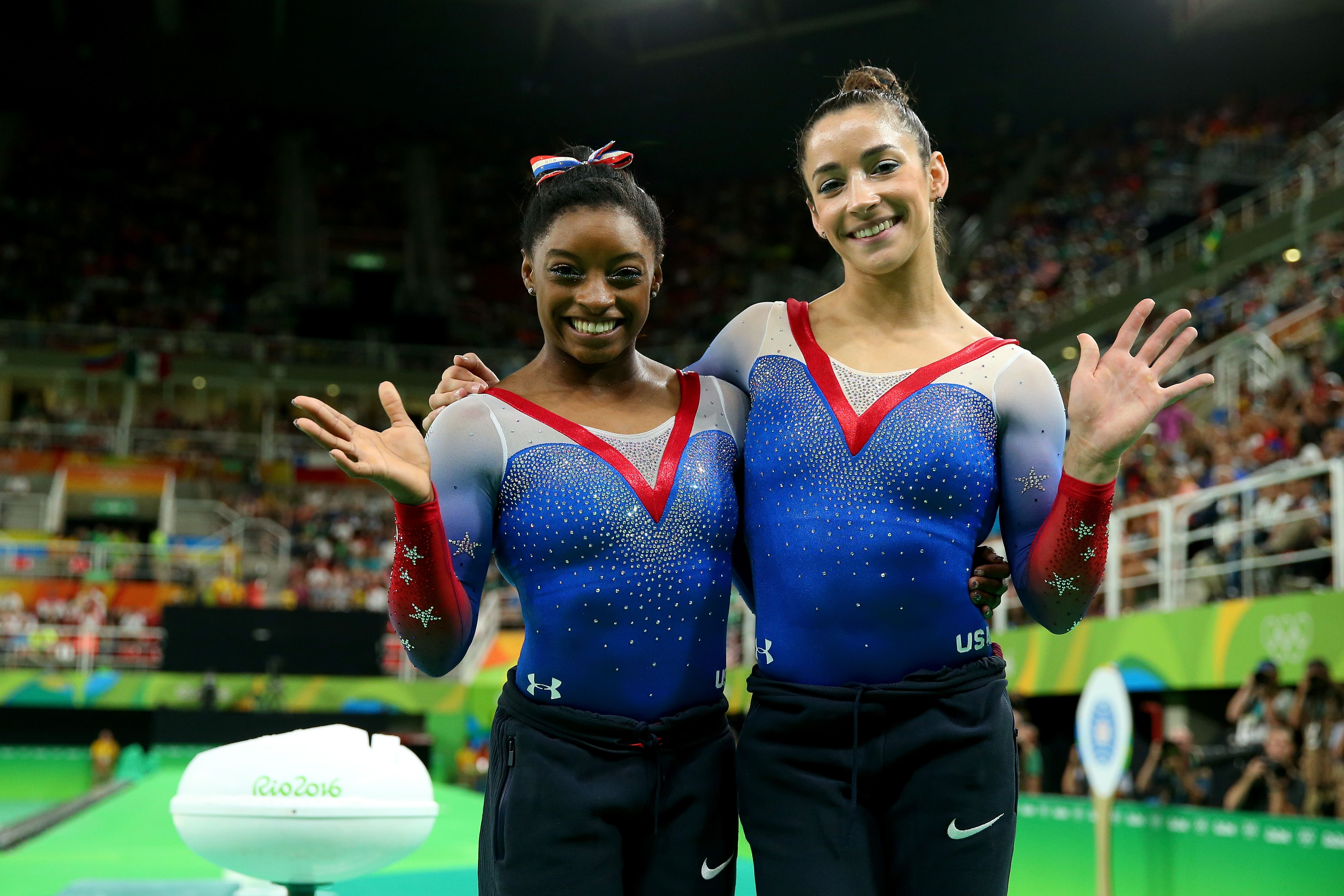 Simone Biles and Aly Raisman Pose for Sports Illustrated