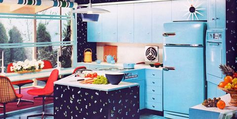 25 Cool Retro Kitchens How To Decorate A Kitchen In