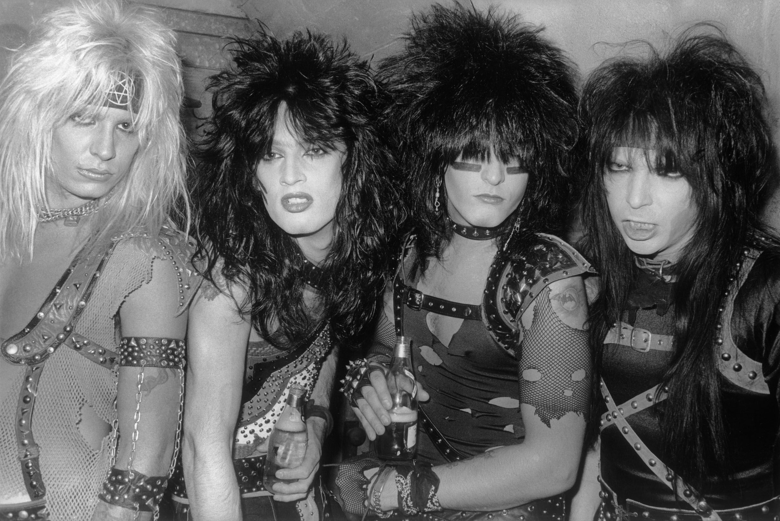 Mötley Crüe photographed in 1983.