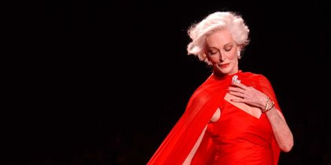 Fashion model, Fashion, Clothing, Haute couture, Red, Fashion show, Gown, Dress, Fashion design, Runway,