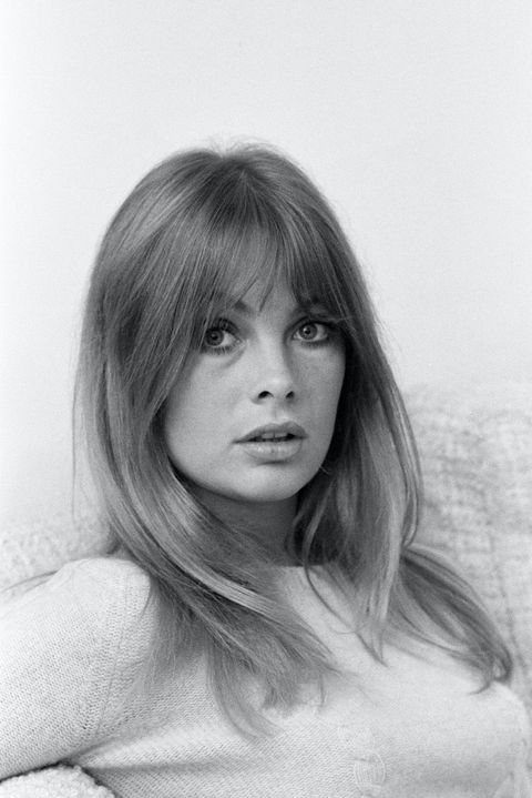 Jean Shrimpton, model, pictured at her home, Montpellier Place, London, 25th October 1967.