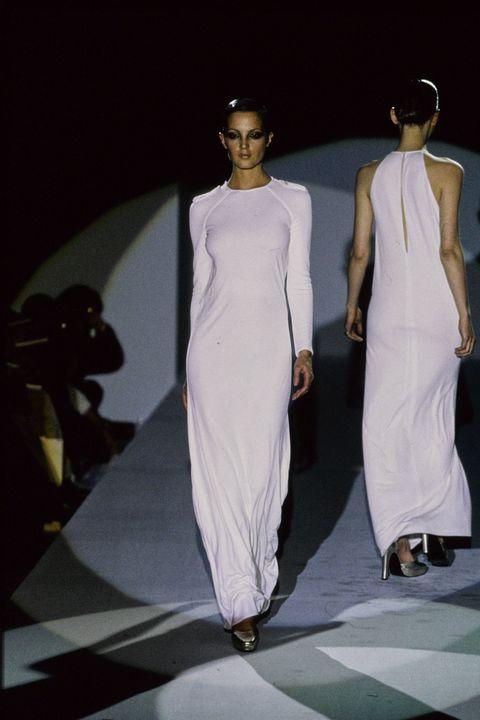 Fashion model, Fashion, Fashion design, Fashion show, Runway, Dress, Haute couture, Model, Design, Event,