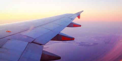 Sky, Atmosphere, Airliner, Air travel, Aviation, Airline, Red, Wing, Airplane, Flight,