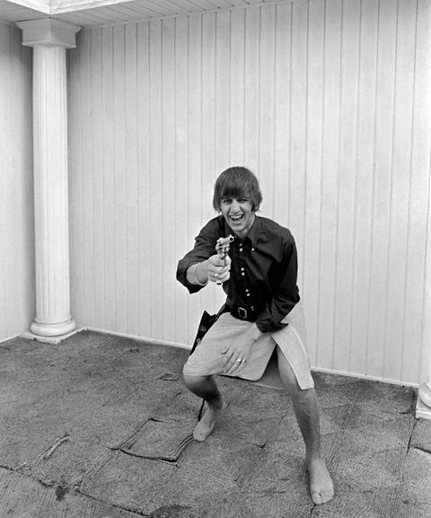 beatles at pool in a private home in los angeles ringo starr playing cowboy at beatles bel air home august 1964 s07559 beatexhib12 photo by watfordmirrorpixmirrorpix via getty images