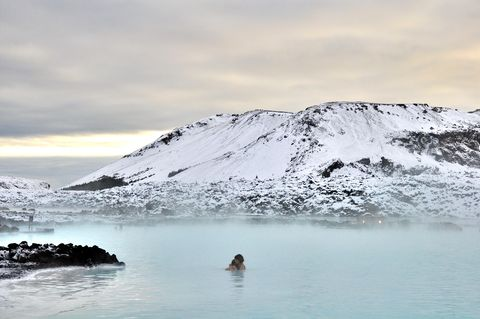 Winter time at Blue lagoon Reykjanes peninsula