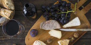 red wine cheese board
